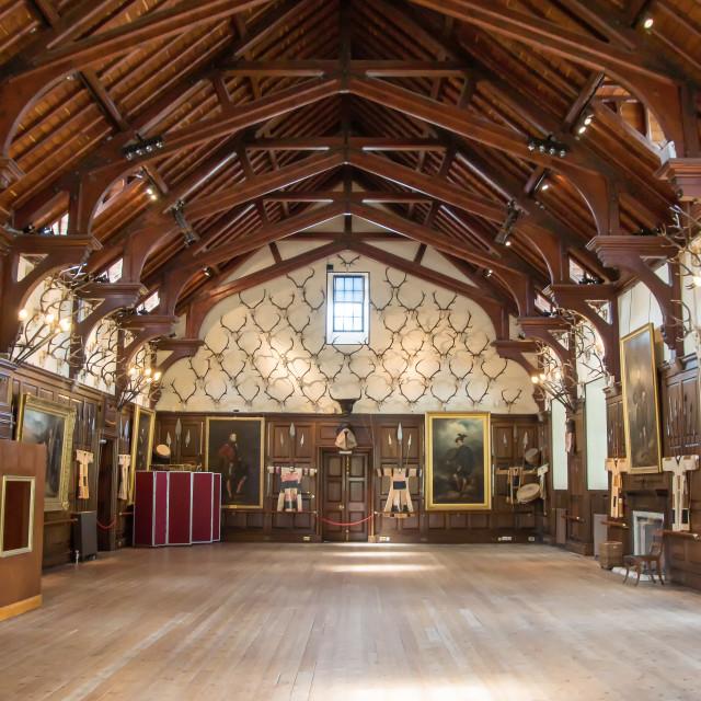 """Saloon of Blair Castle, Scotland"" stock image"