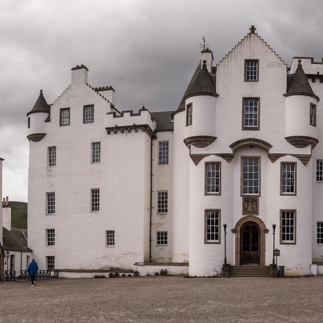 """""""Blair Castle panorama, Scotland"""" stock image"""