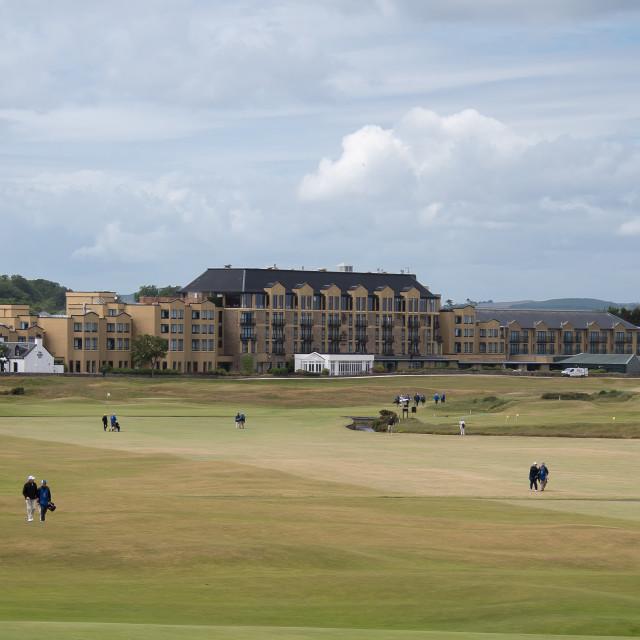 """St. Andrews golf paradise, Scotland"" stock image"