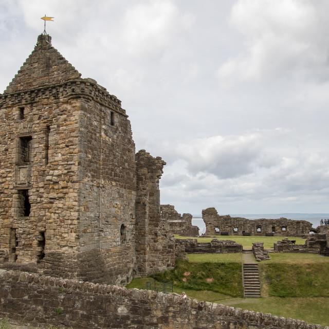 """St. Andrews Castle"" stock image"