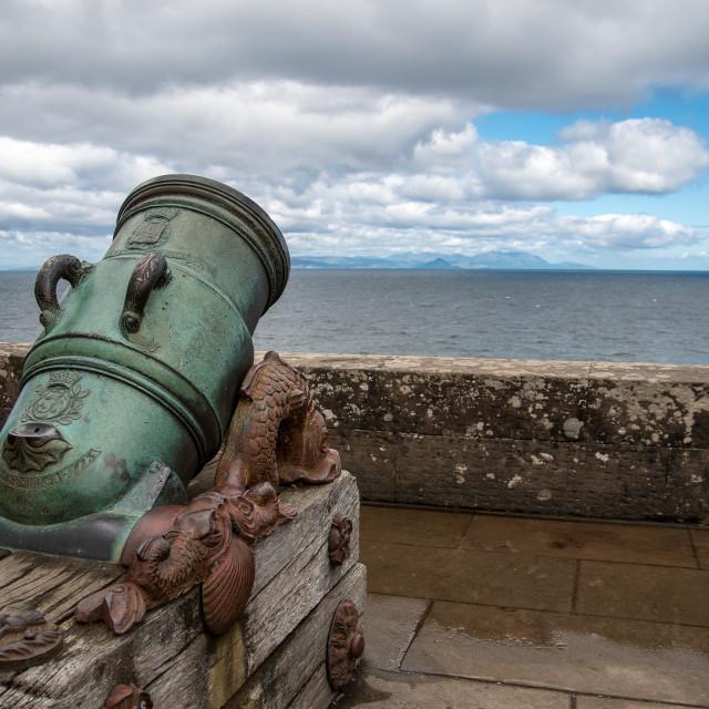 """""""Guard of Culzean Castle, Scotland"""" stock image"""