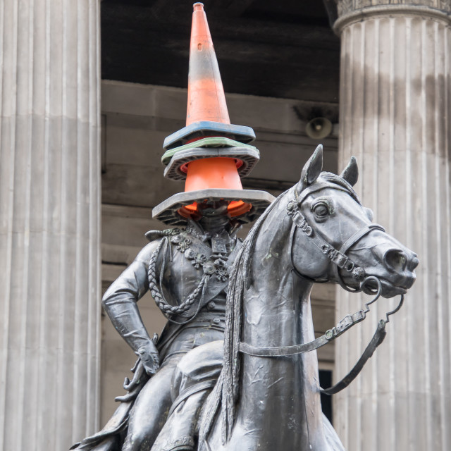 """Wellington statue, Glasgow, Scotland"" stock image"