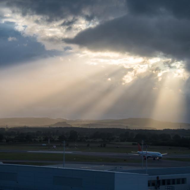 """Sunshine, Galsgow, Scotland"" stock image"