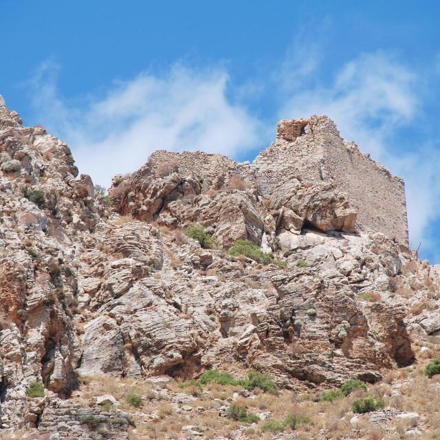 """Crusader Knights castle on Tilos"" stock image"