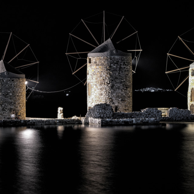 """Windmills of Chios"" stock image"