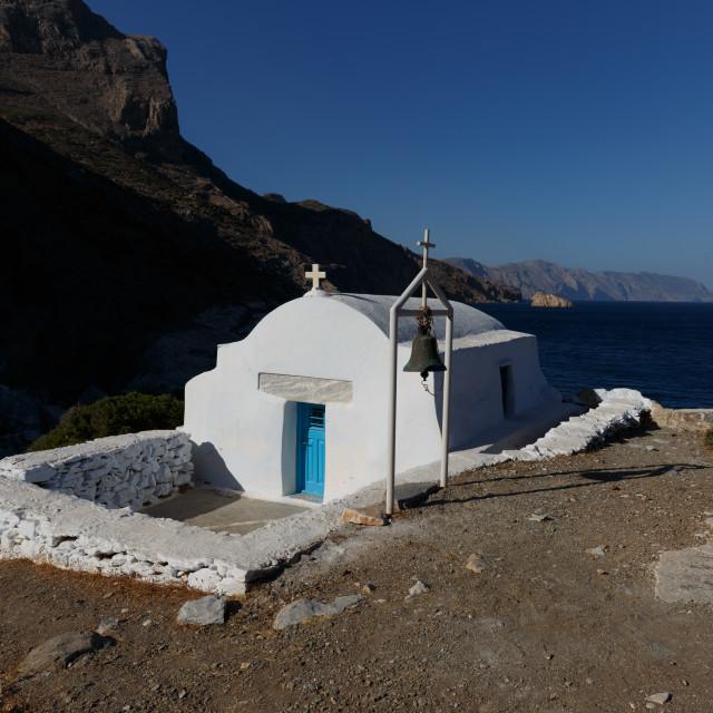 """St Anna at Amorgos Island"" stock image"