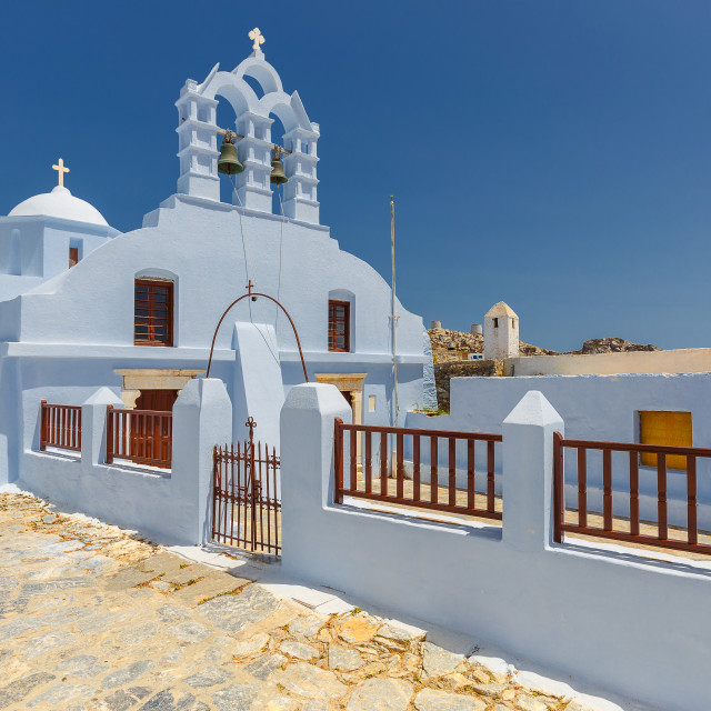 """""""View of Amorgos Streets"""" stock image"""