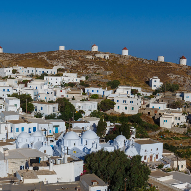 """""""panoramic view of the capital of Amorgos Island"""" stock image"""