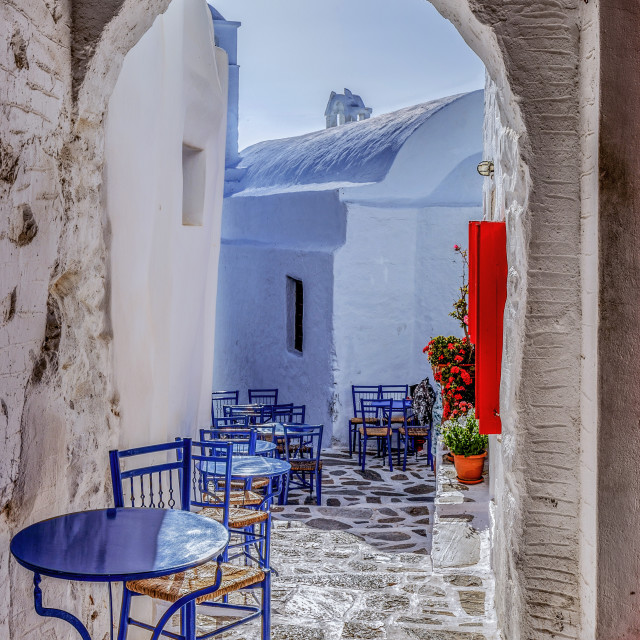 """View of Amorgos Chora Streets"" stock image"