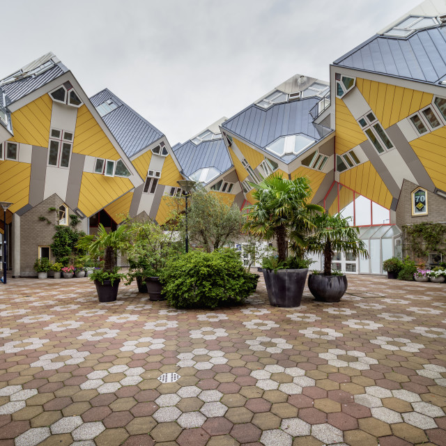 """Cube Houses, Rotterdam, South Holland, The Netherlands"" stock image"