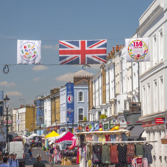 """UK, England, London, Kensington and Chelsea, Ladbroke Grove, Portobello Road,..."" stock image"