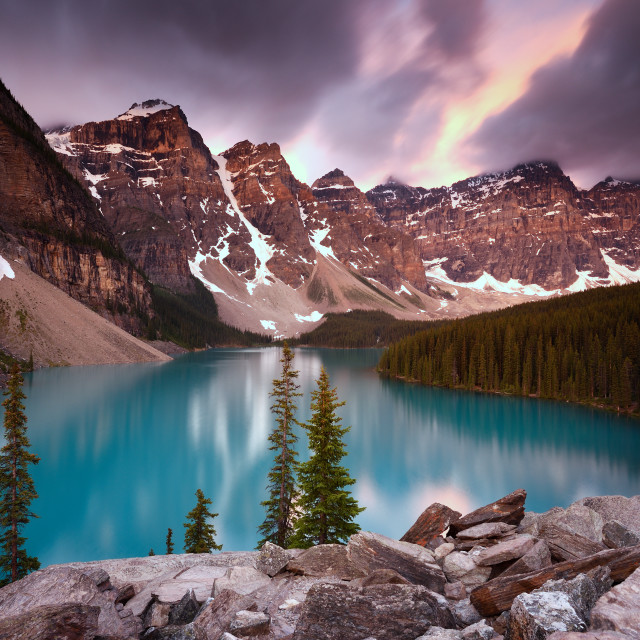 """Moraine Lake Sunrise"" stock image"
