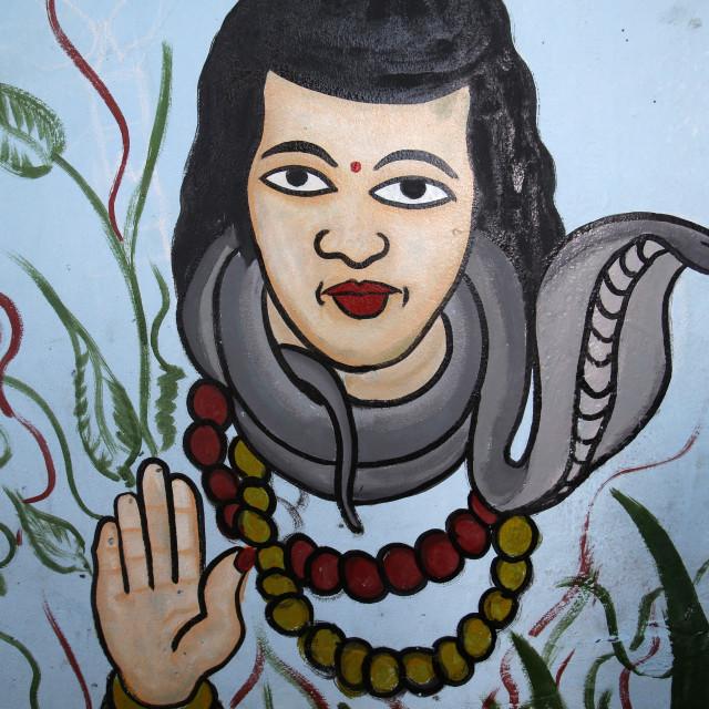 """""""Voodoo shrine in Cotonou, Benin. Godess Akla Mami."""" stock image"""