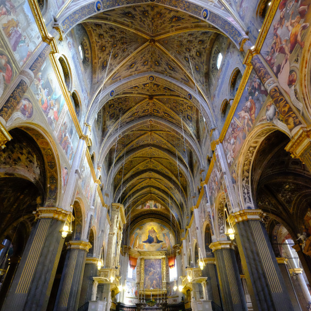 """Cremona Cathedral, dedicated to the Assumption of the Blessed Virgin Mary,..."" stock image"