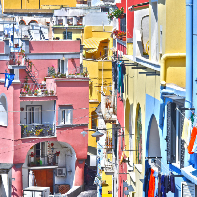 """Architecture of Procida Island, Campania, Italy"" stock image"