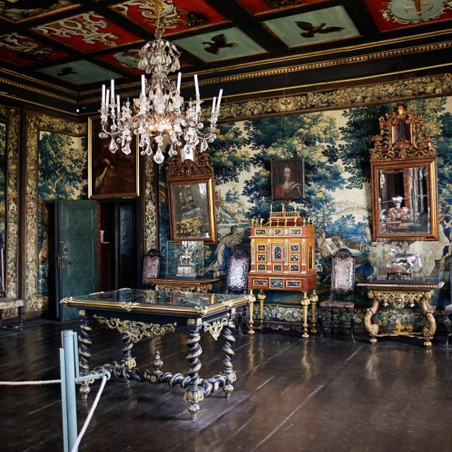 """""""COPENHAGEN, DENMARK - Rosenborg castle, Frederik IV's Hall"""" stock image"""