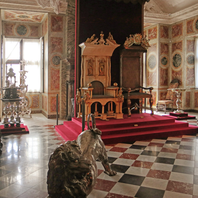 """COPENHAGEN, DENMARK - Rosenborg castle, the Great Hall"" stock image"