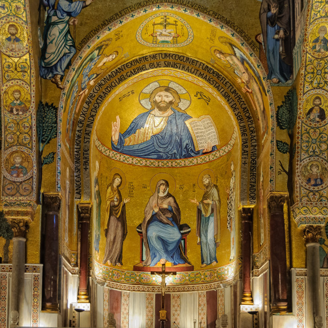 """""""One of the three apses of Cappella Palatina - Palermo"""" stock image"""