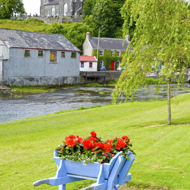 """""""wheel barrow at castletownroche park and church"""" stock image"""