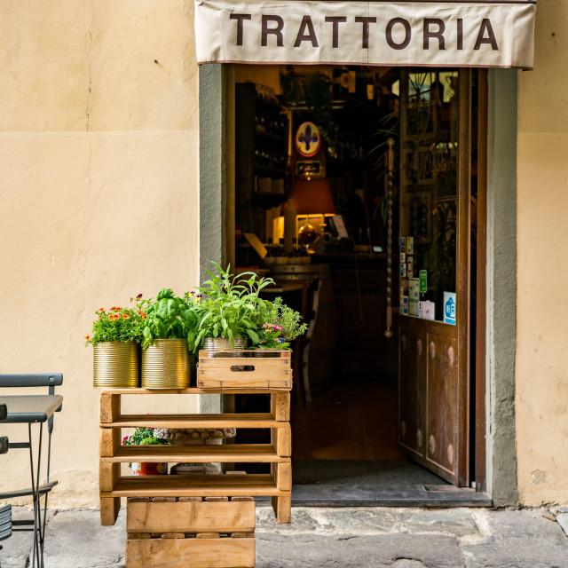 """""""Trattoria near Piazza Santa Trinita"""" stock image"""