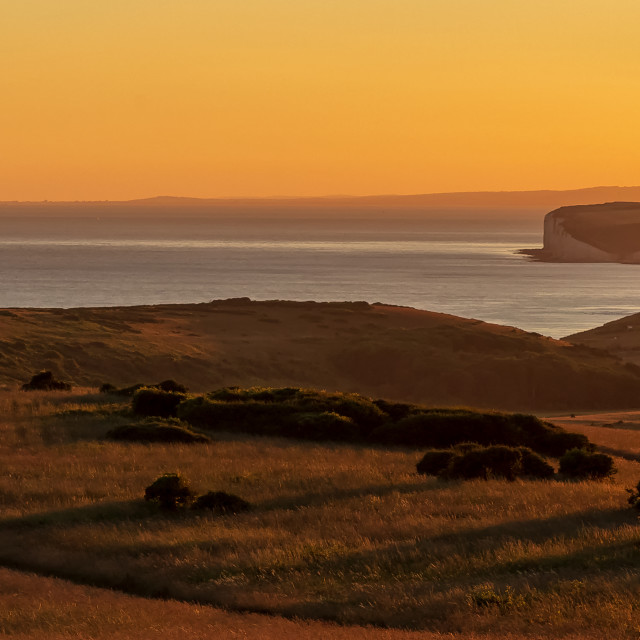 """""""Summers evening at Beachy Head"""" stock image"""