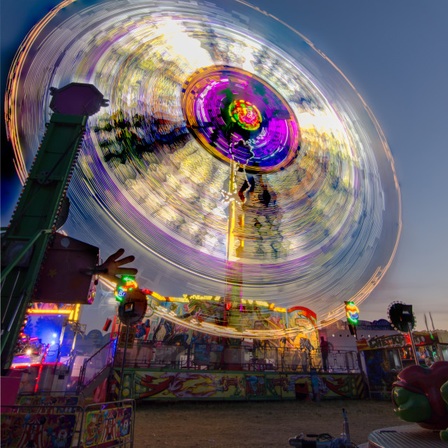 """""""Spin at Newcastle Hoppings"""" stock image"""