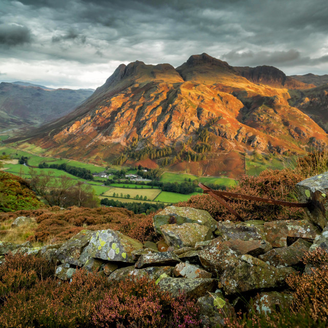 """Langdale Pikes from Side Pike"" stock image"