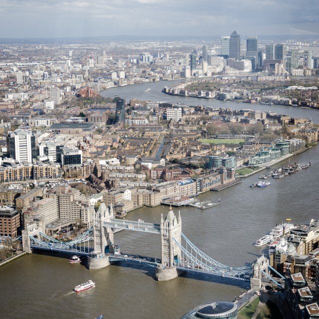 """""""View of London"""" stock image"""