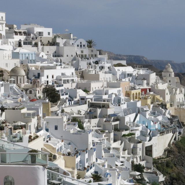 """Fira on Santorini"" stock image"