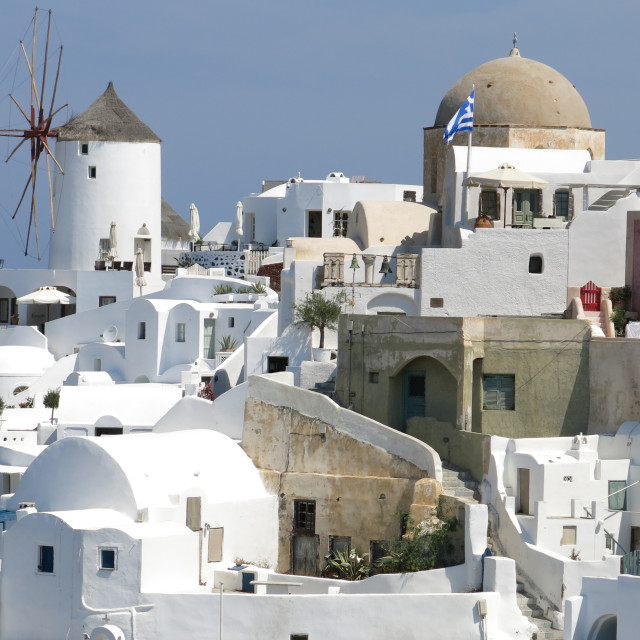"""Oia on Santorini"" stock image"