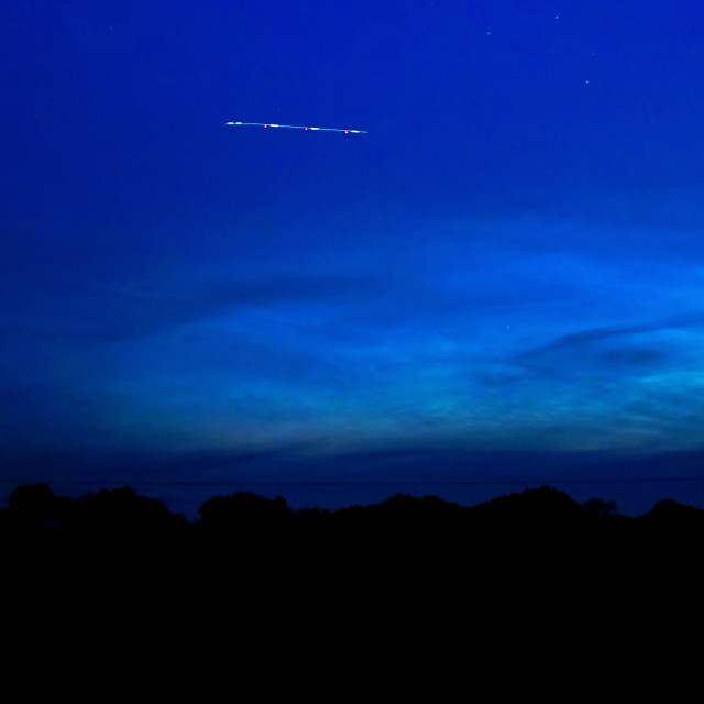 """The Eye - Noctilucent Clouds A Rare Phenomenon"" stock image"