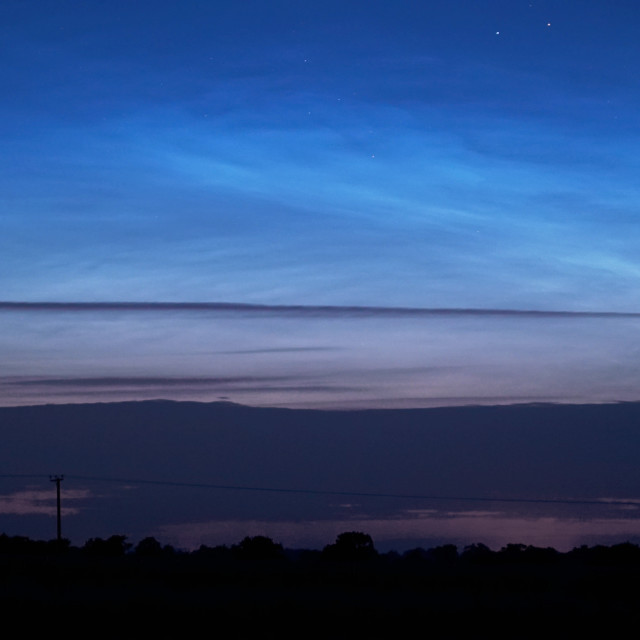 """Noctilucent Clouds A Rare Phenomenon"" stock image"