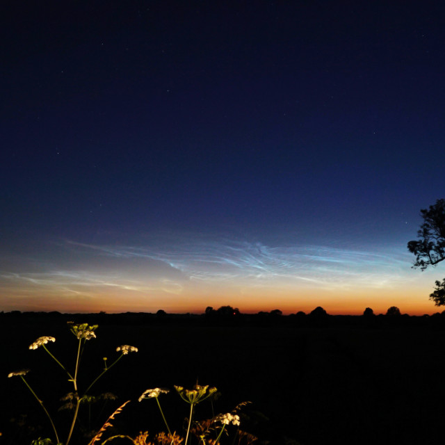 """Noctilucent Clouds Phenomena"" stock image"