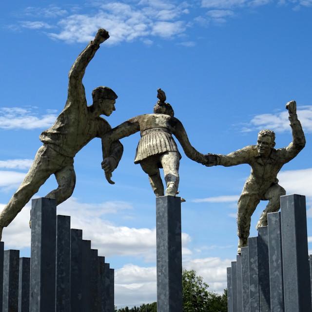 """""""Dancing Statues"""" stock image"""