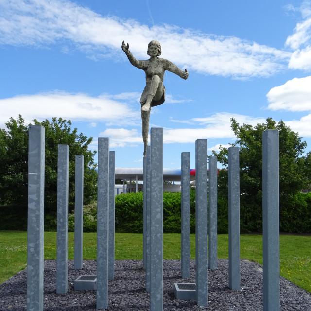 """""""Dancing Statue"""" stock image"""
