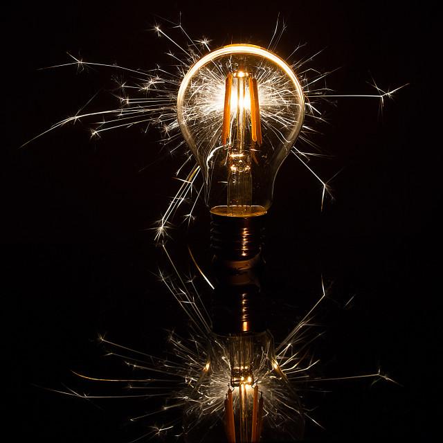 """""""Bright Idea"""" stock image"""