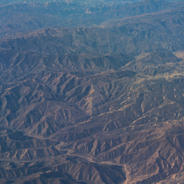 """aerial view of California San Andreas"" stock image"