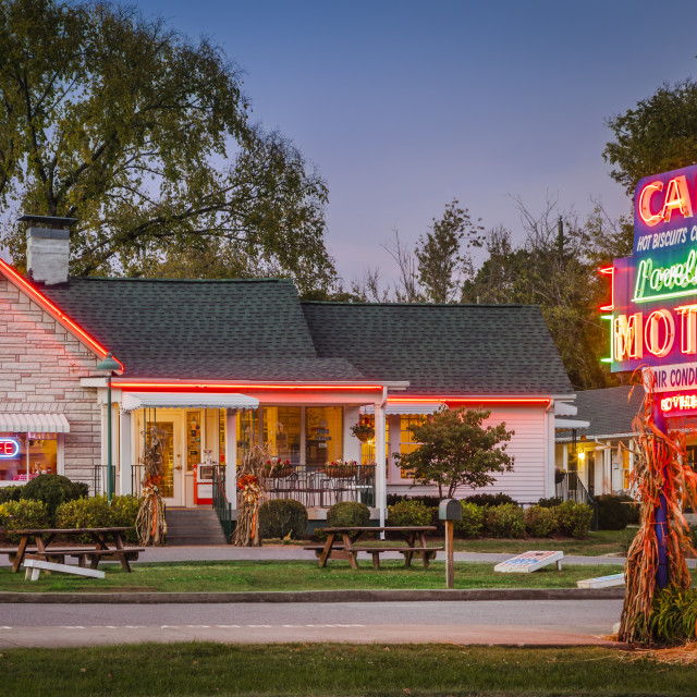 """The famous Loveless Cafe and Motel near Nashville Tennessee, USA"" stock image"