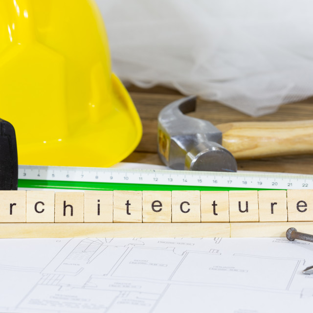 """Plans, architecture"" stock image"