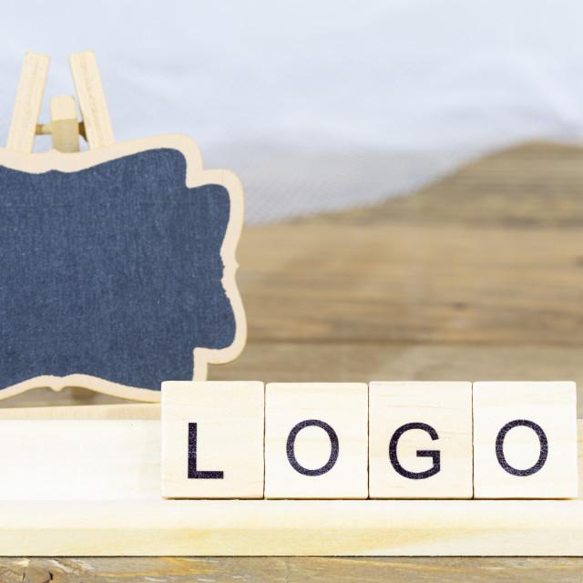 """Blackboard for the logo"" stock image"