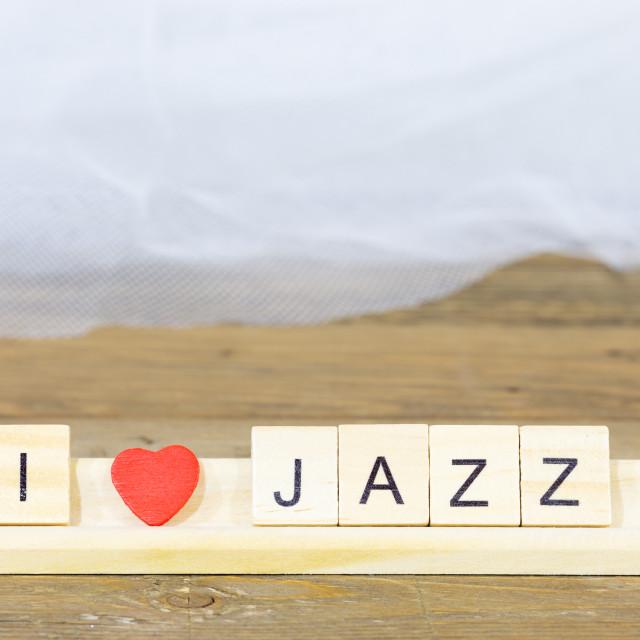 """""""I like jazz"""" stock image"""