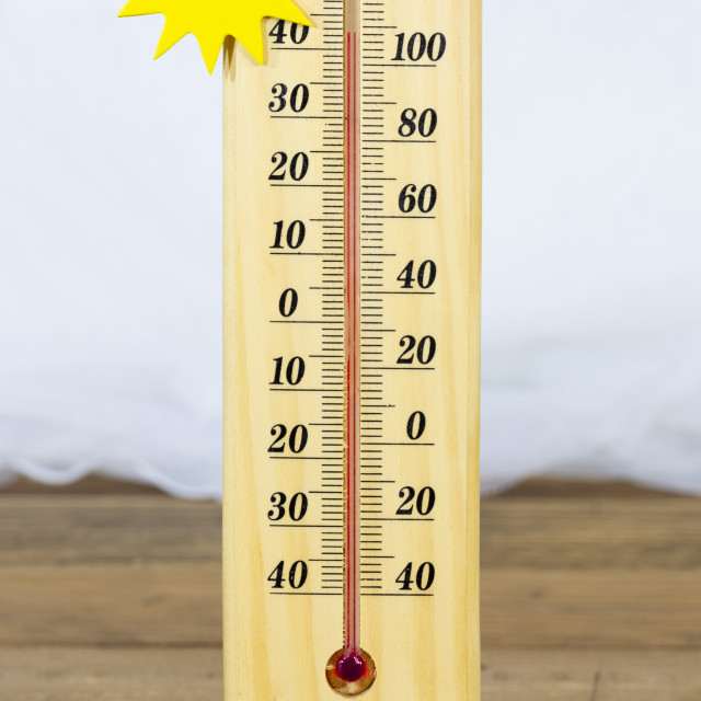 """""""Thermometer marking degrees"""" stock image"""