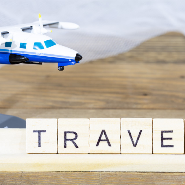 """""""Travel written with words"""" stock image"""