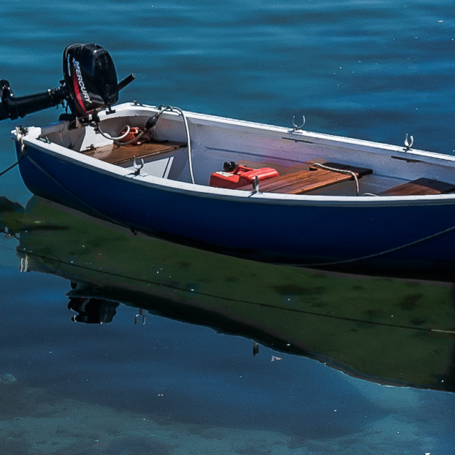 """Blue Boat"" stock image"