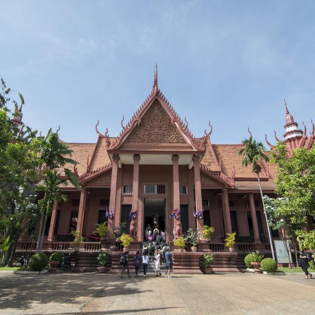 """CAMBODIA PHNOM PENH NATIONAL MUSEUM"" stock image"