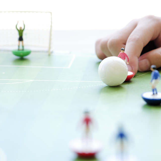 """Playing Table Soccer Board Game"" stock image"