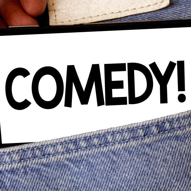 """""""Handwriting text Comedy Call. Concept meaning Fun Humor Satire Sitcom..."""" stock image"""