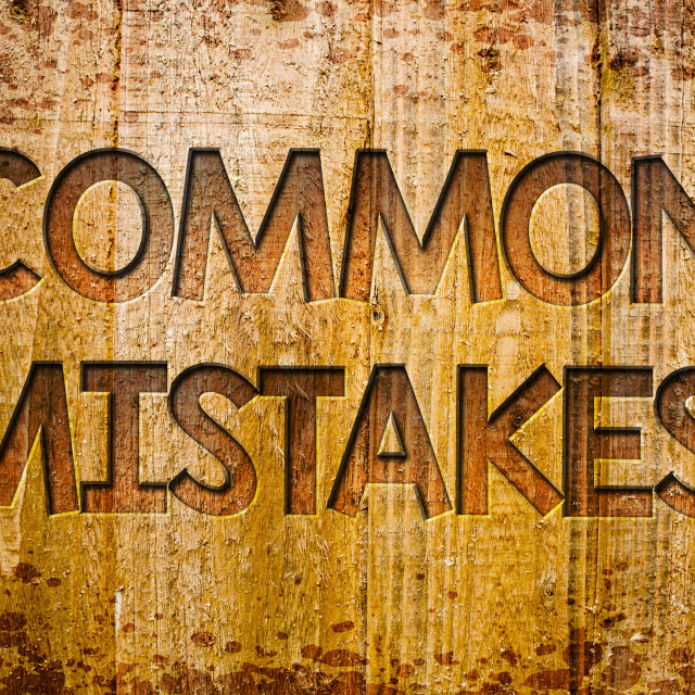 """""""Conceptual hand writing showing Common Mistakes Motivational Call. Business..."""" stock image"""