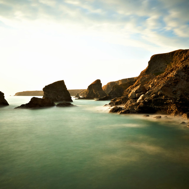 """Bedruthan Steps"" stock image"