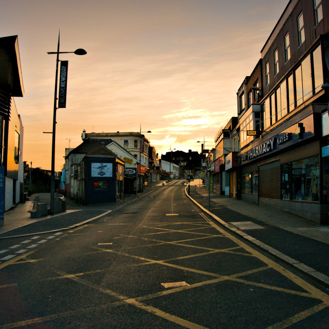 """East Street at Dawn"" stock image"